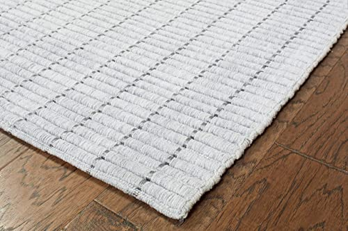 LR Resources Kessler LR81213-LTG2080 Light Gray Rectangle 2 X 8 ft Indoor Runner Rug, 2 x 8 ,