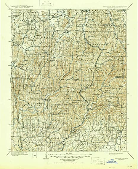 Amazon.com: YellowMaps Winslow AR topo map, 1:125000 Scale, 30 X 30 ...