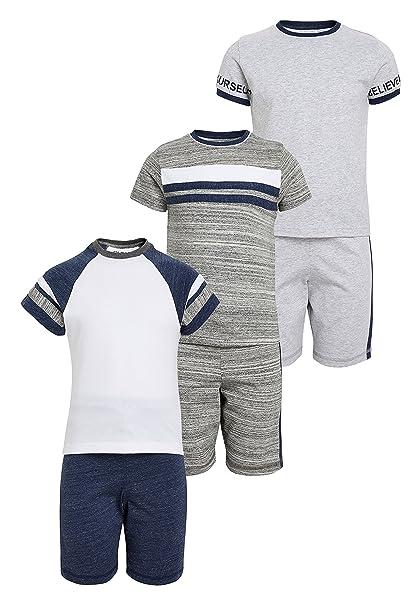 next Niños Pack de 3 Pijamas Azul Marino/Gris 3 Años