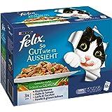 Felix Katzennassfutter So gut wie es aussieht, 6er Pack (6 x 12 x 100g) Portionsbeutel