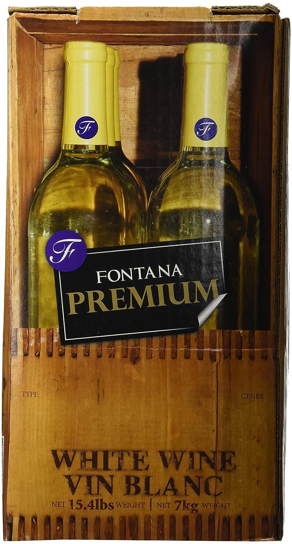Merlot Fontana Wine Making Kit Premium (28 Day kit), 15.4lbs: Amazon ...