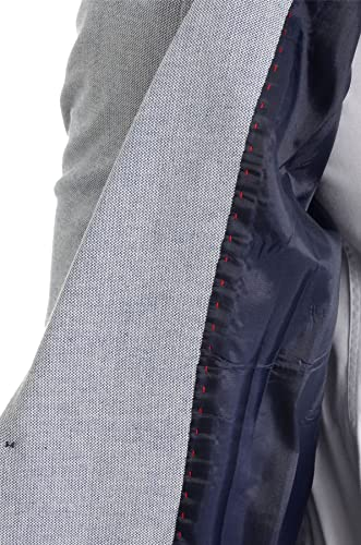 D&R Fashion Mens Classic Blazer Jacket Blue Casual Business Red Finish Slim Fit Soft Cotton at Amazon Mens Clothing store: