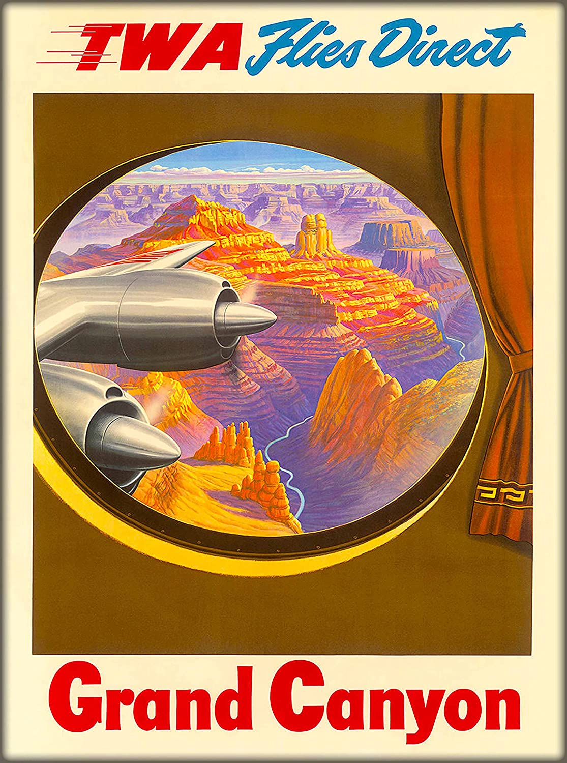 Fly TWA Arizona Airline vintage print various sizes framed /& unframed