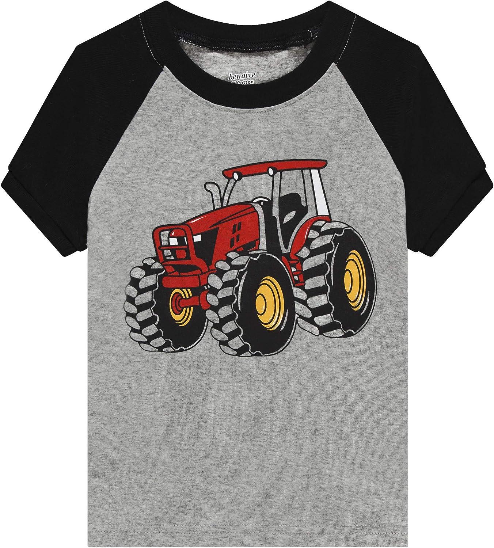 4-Piece Children Sleepwear Benaive Pajamas for Boys Pjs for Toddler Boy Cotton Summer Pajama Lounge Shorts Set