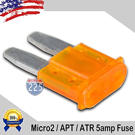 25 Pack 5 Amp ATC ATO Blade Fuse kit Auto Car Boat Marine Truck Motorcycle 5A