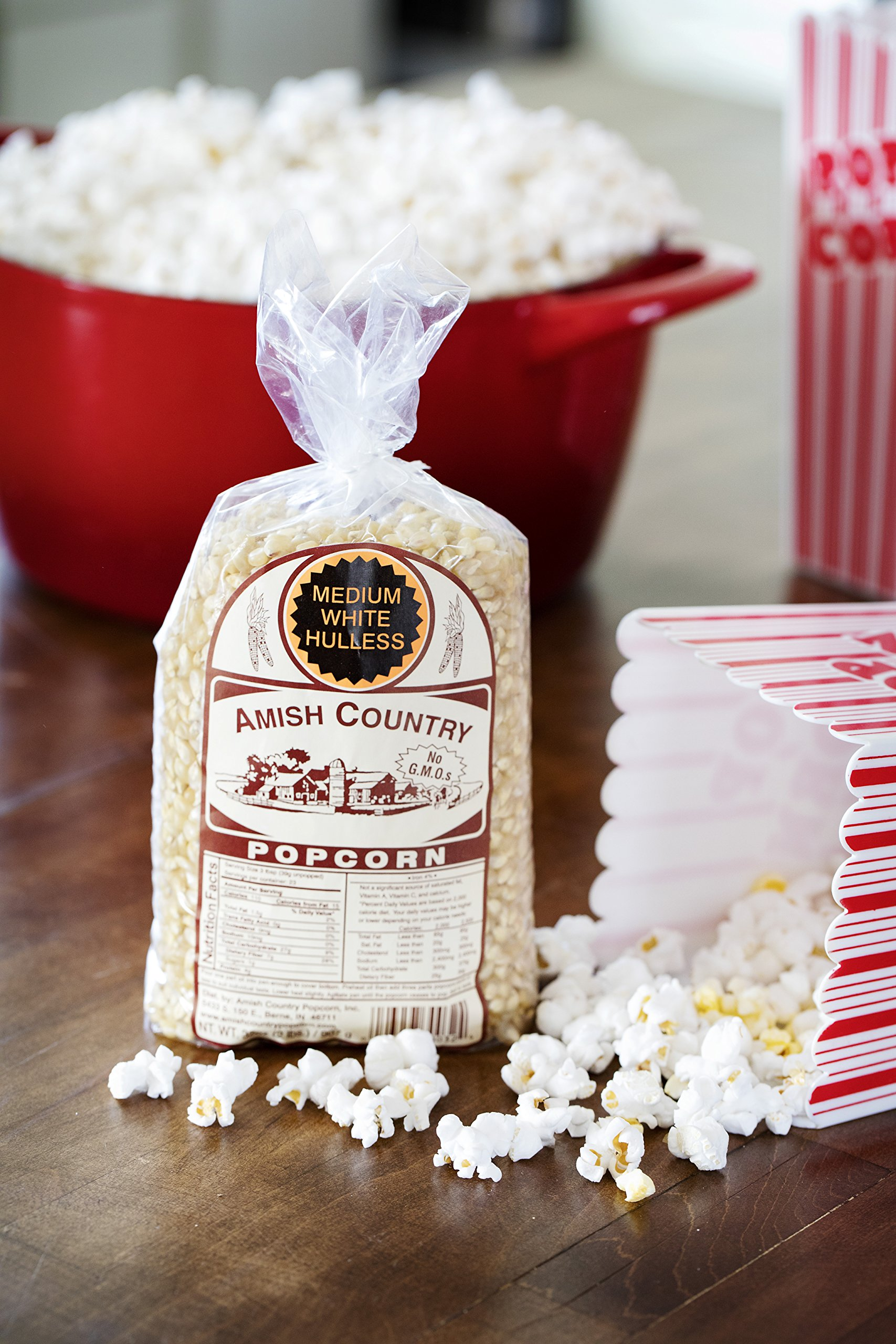 Amish Country Popcorn - Medium White Popcorn (2 Pound Bag) Old Fashioned, Non GMO, and Gluten Free - with Recipe Guide by Amish Country Popcorn (Image #4)