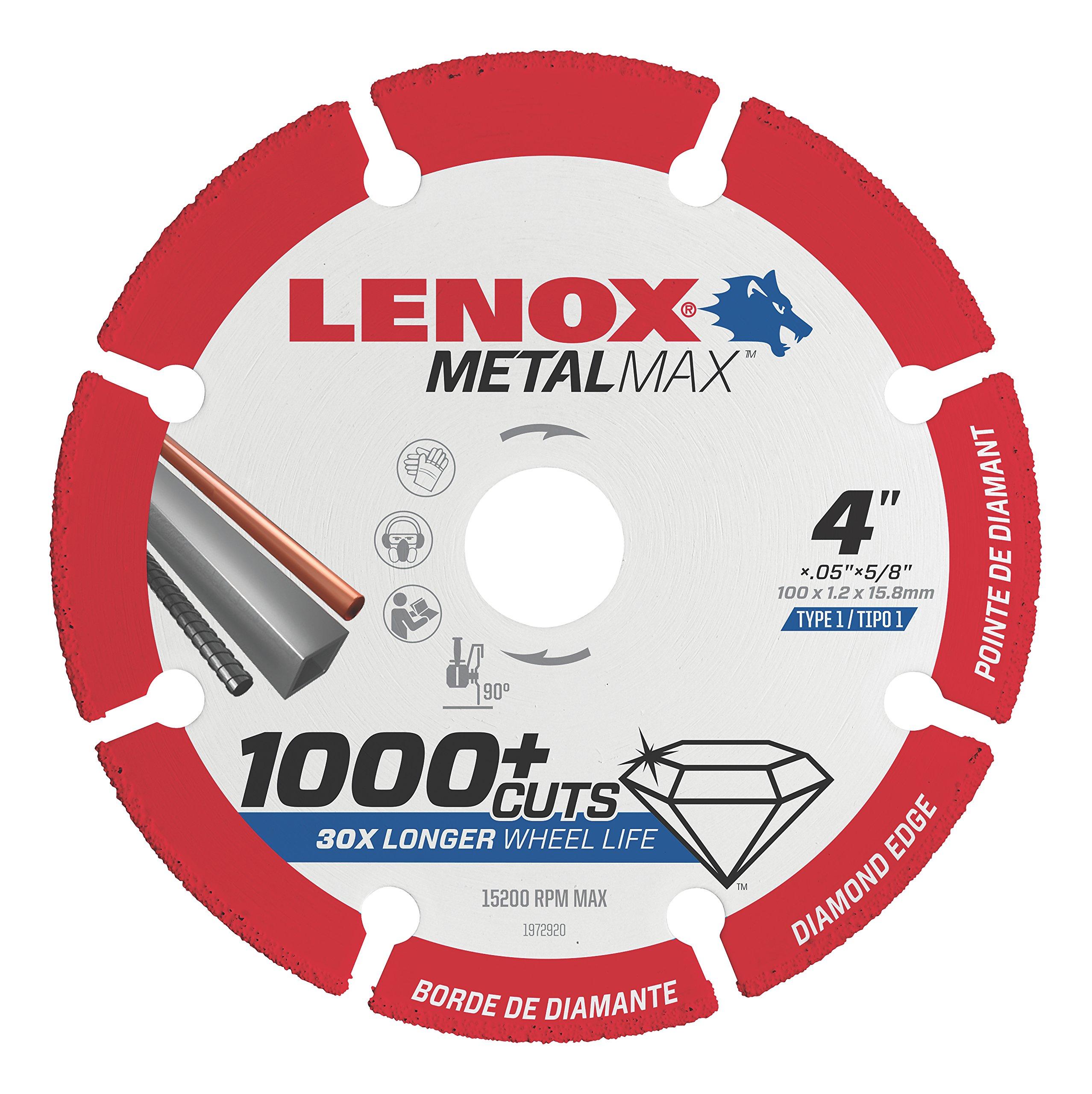 Lenox Tools 1972920 METALMAX Diamond Edge Cutoff Wheel, 4'' x 5/8''