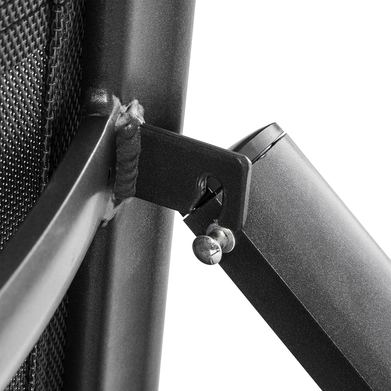 Anthracite 40x40x36 cm Ultranatura Korfu Plus Sgabello in Alluminio con Poggiapiedi Ripiegabile
