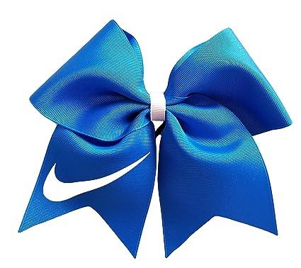 fdbb320f9a579 Amazon.com: Cheer bows Blue Nike Hair Bow