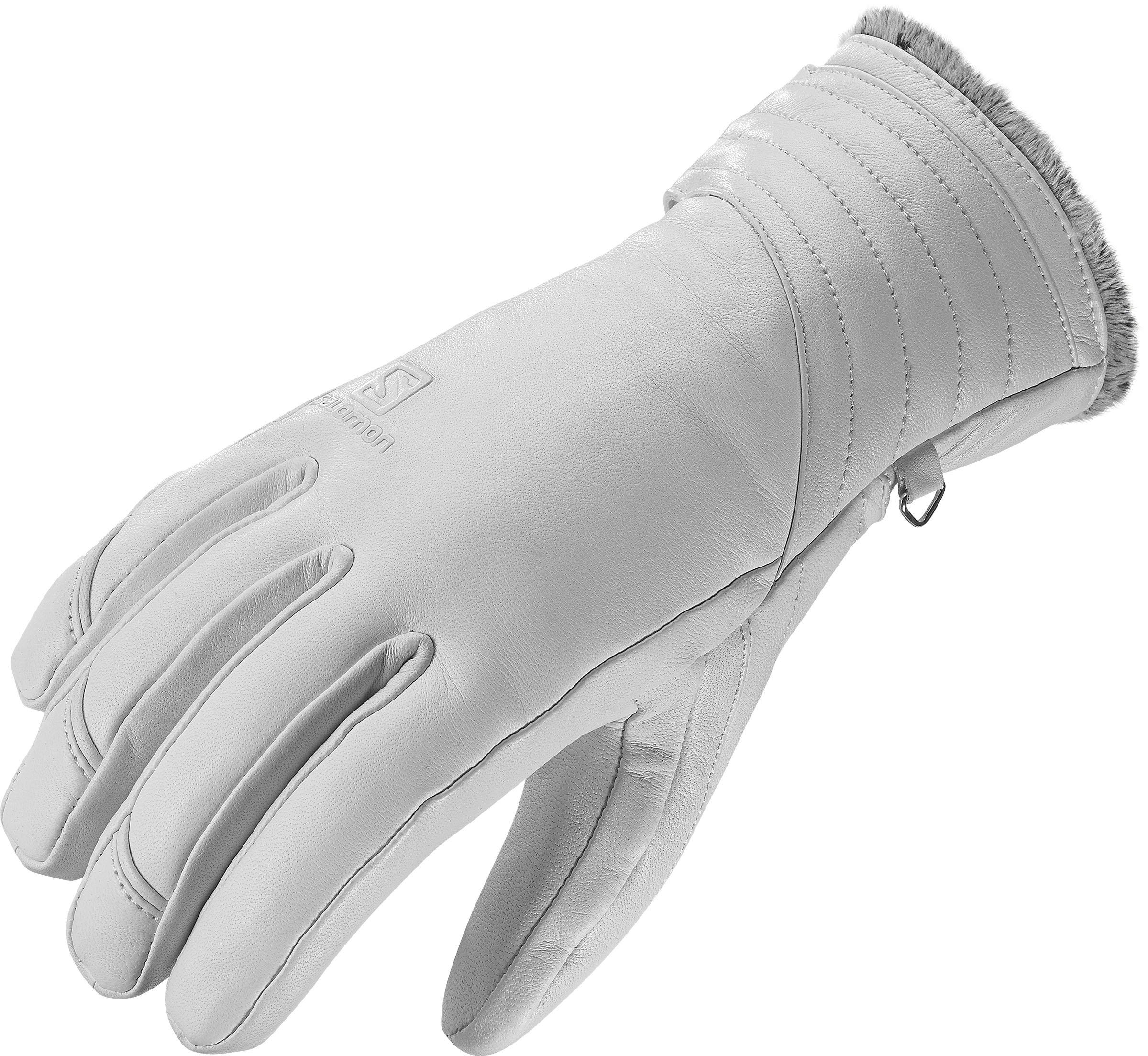 Salomon Native W Cold Weather Gloves, White, X-Small