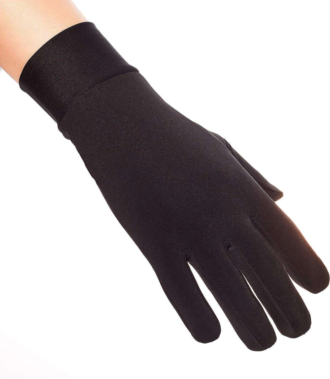Compression Lightweight Sport Running Gloves Liner Gloves- Black - Men & Women: Clothing