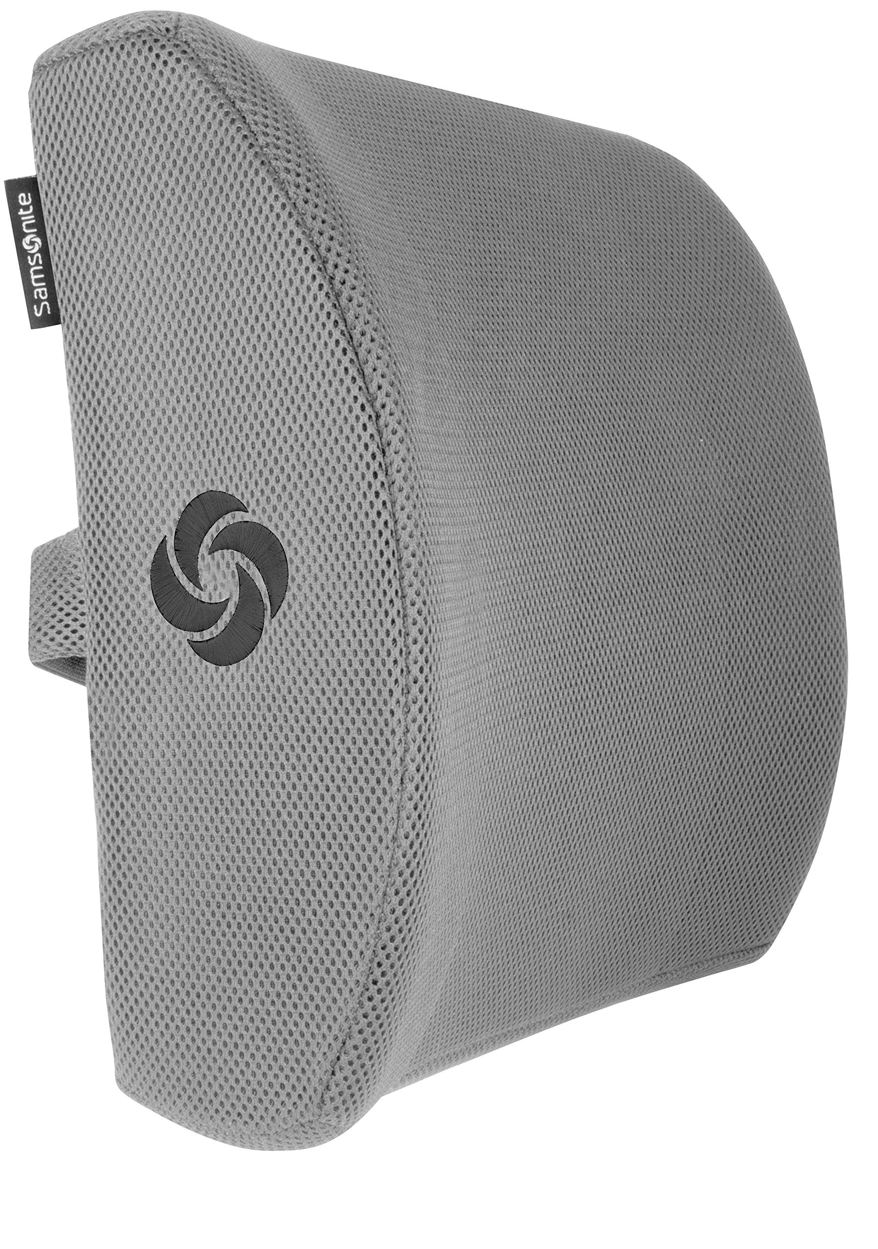 Samsonite SA5244 - Ergonomic Lumbar Support Pillow - Helps Relieve Lower Back Pain - 100% Pure Memory Foam - Improves Posture - Fits Most Seats - Breathable Mesh - Washable Cover - Adjustable Strap by Samsonite (Image #2)