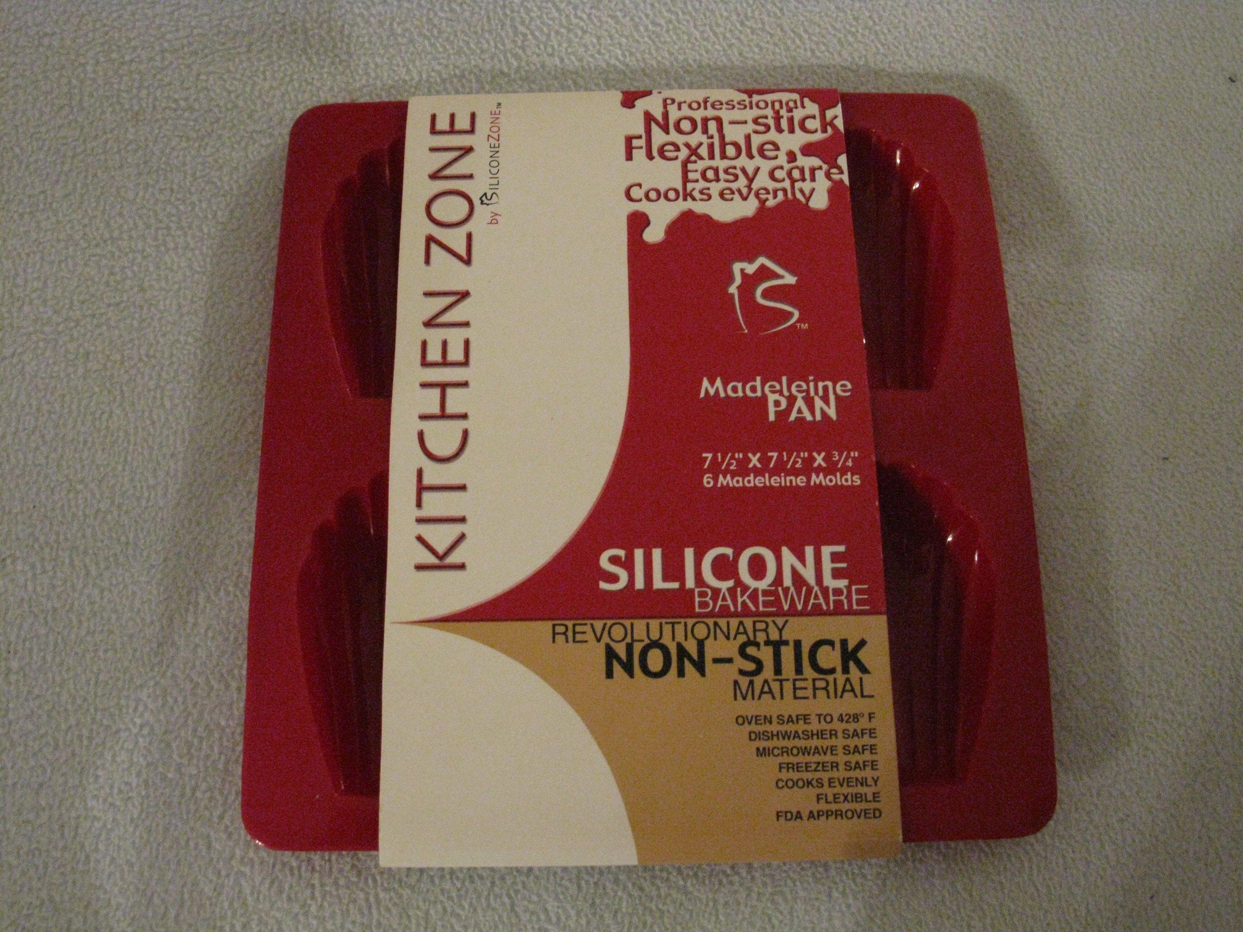 SiliconeZone 6-cavity Madeleine Pan, Red