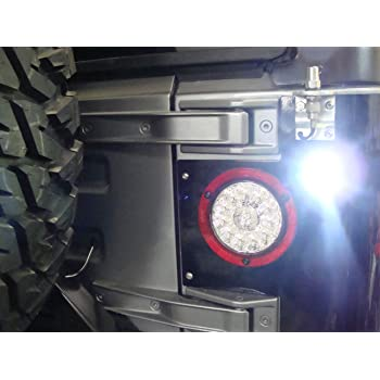 2 jeep cj yj jk tj led backup light 7 8 super. Black Bedroom Furniture Sets. Home Design Ideas