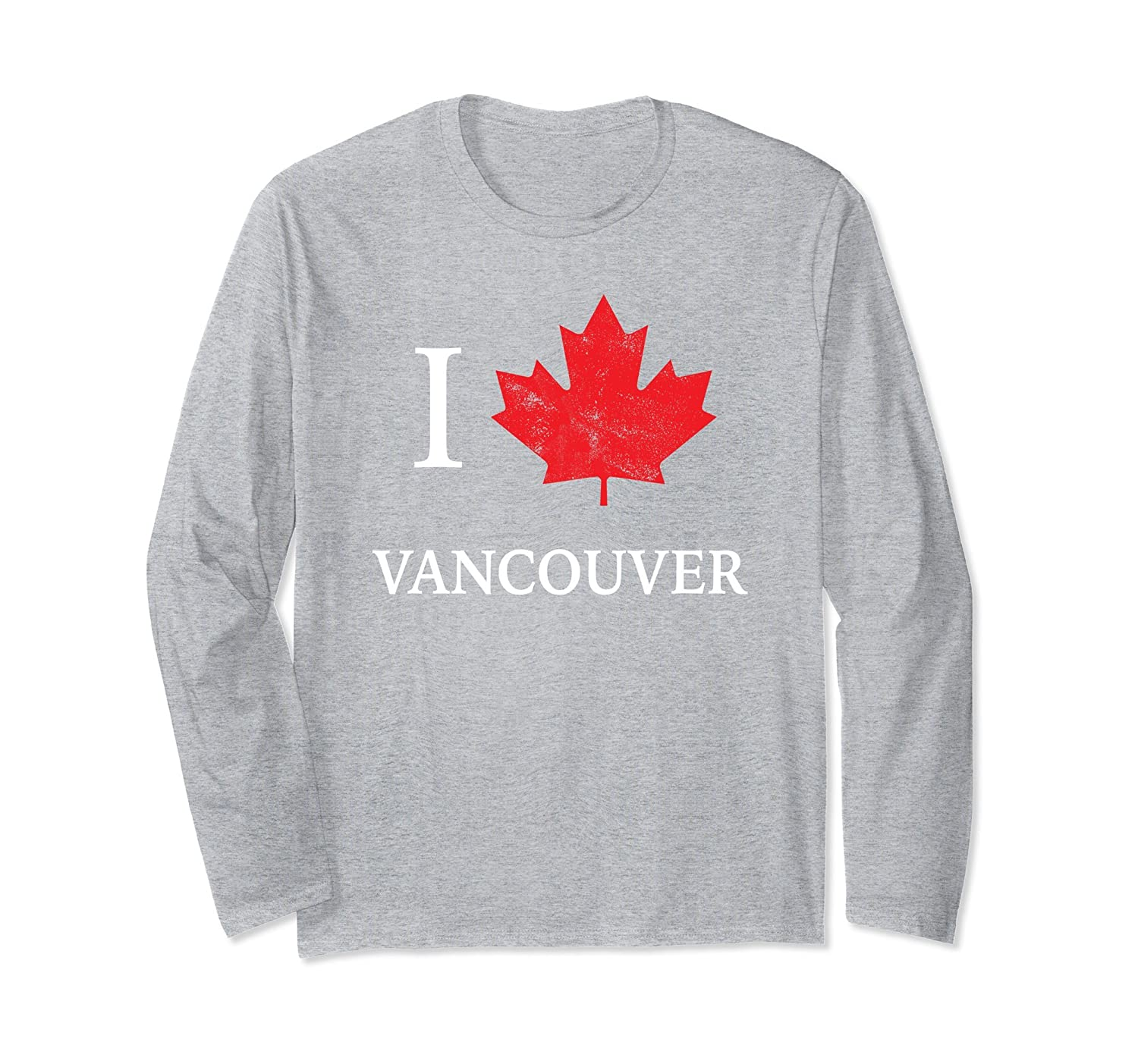 Vancouver Long Sleeve Canada Day Shirt Canadian Tourist-mt