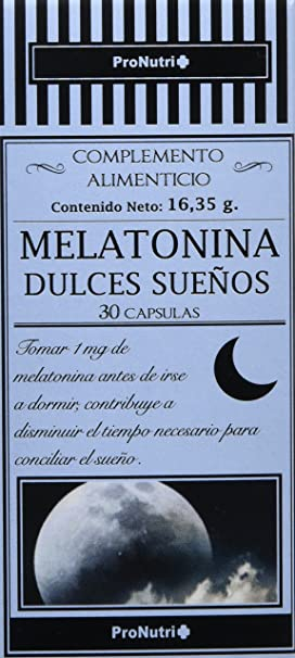PRONUTRI - PRONUTRI Melatonina 30 cápsulas: Amazon.es: Salud y cuidado personal