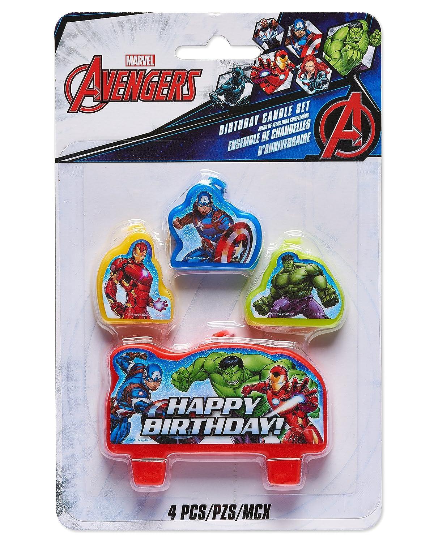 Velas de cumpleaños de los Avengers de la Marvel: Amazon.es ...