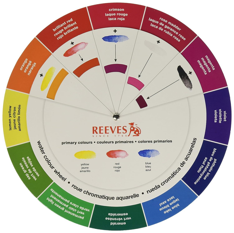 Reeves Cercle Chromatique Aquarelle Amazonfr Fournitures De Bureau