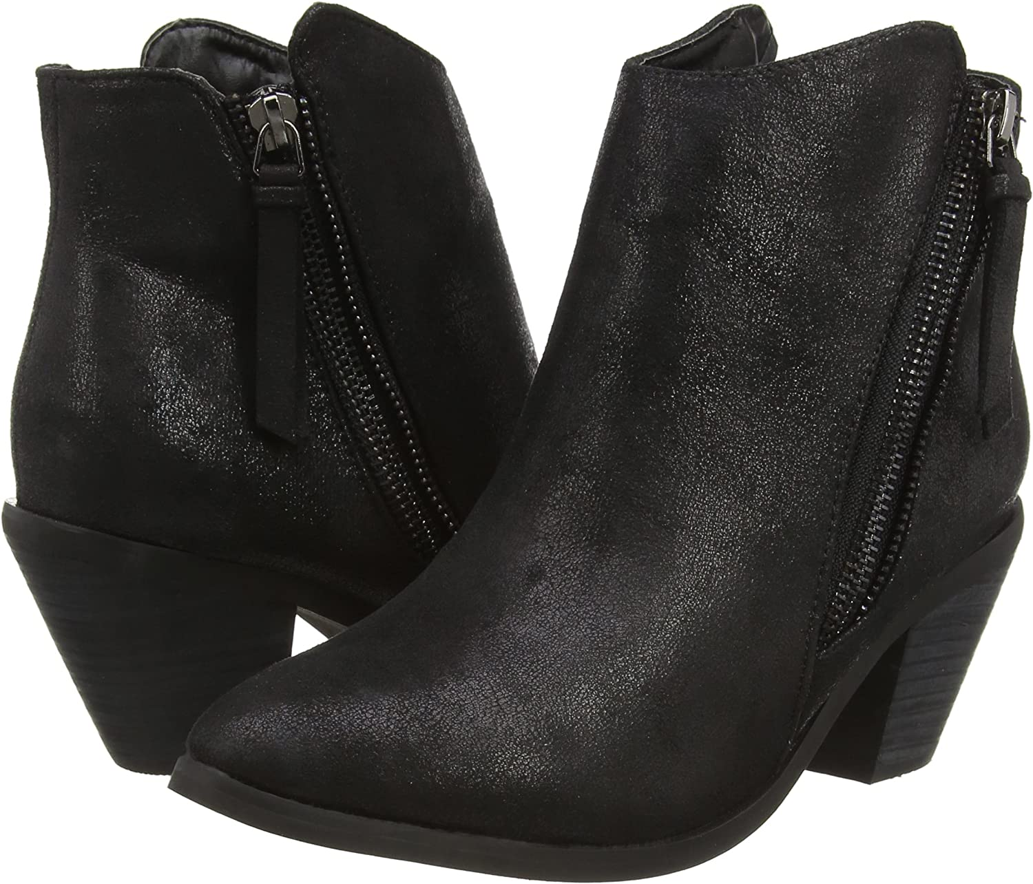 Grey Spot On Ankle Boots UK Sizes 4-8 F50450 Ladies Black