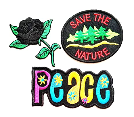 Sew On Clothes Badge Embroidered Enjoy Hippy Hippie Embroidery Patch Iron On