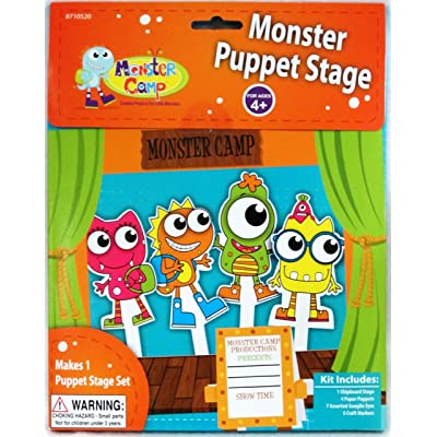 Monster Puppet Stage by Toner Crafts: Toys & Games
