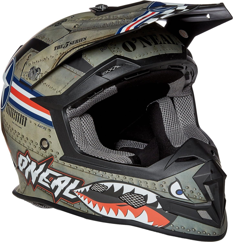 O Neal 5 Series Motocross Enduro Mtb Helm Wingman Metal Silber Weiß 2017 Oneal Größe Xxl 63 64cm Bekleidung