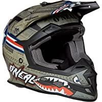 O'Neal 5 Series Wingman - Casco integral unisex para adulto, varias tallas (color blanco y multicolor), Multicolor/blanco, Mediano