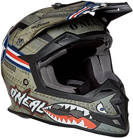 5f5747752208d Amazon.com  O Neal Unisex-Adult Off-Road Style 5 SRS Wingman Helmet MTL WHT  L (Metal White