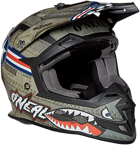 Amazon.com: ONeal 5 Series Unisex-Adult Wingman Full Face Helmet (Multi/White, Medium): Automotive