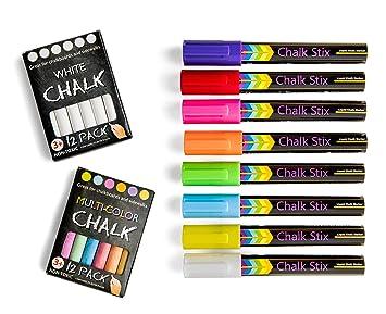 Chalk Stix - Rotuladores de tiza - 8 rotuladores de neón ...