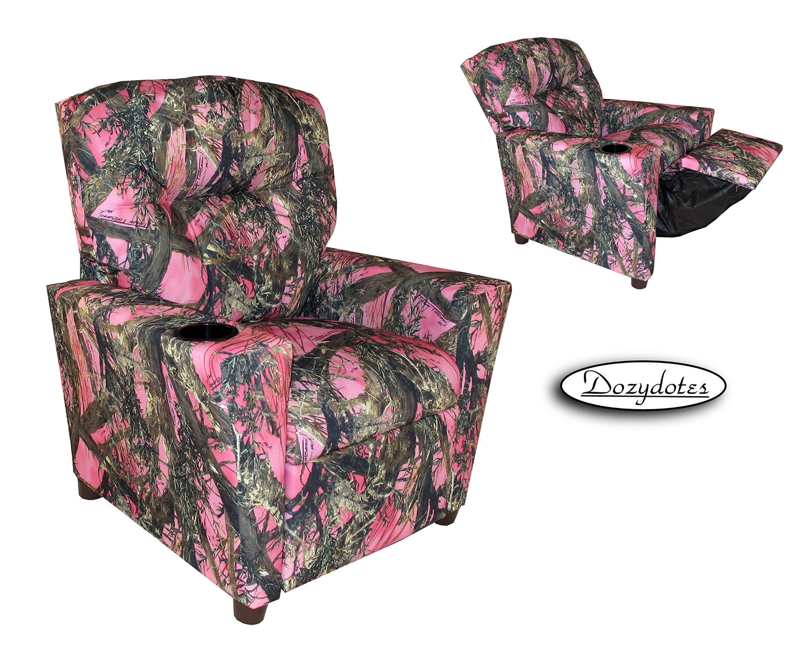 Dozydotes Cup Holder Recliner in True Timber MC2 Pink Camouflage by Dozydotes