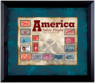 product image for America Takes Flight Stamp Collection in Wall Frame