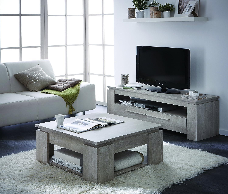 Demeyere Segur 2 Glass Door 2 Door Display Unit Wood Champagne  # Table Basse Tv