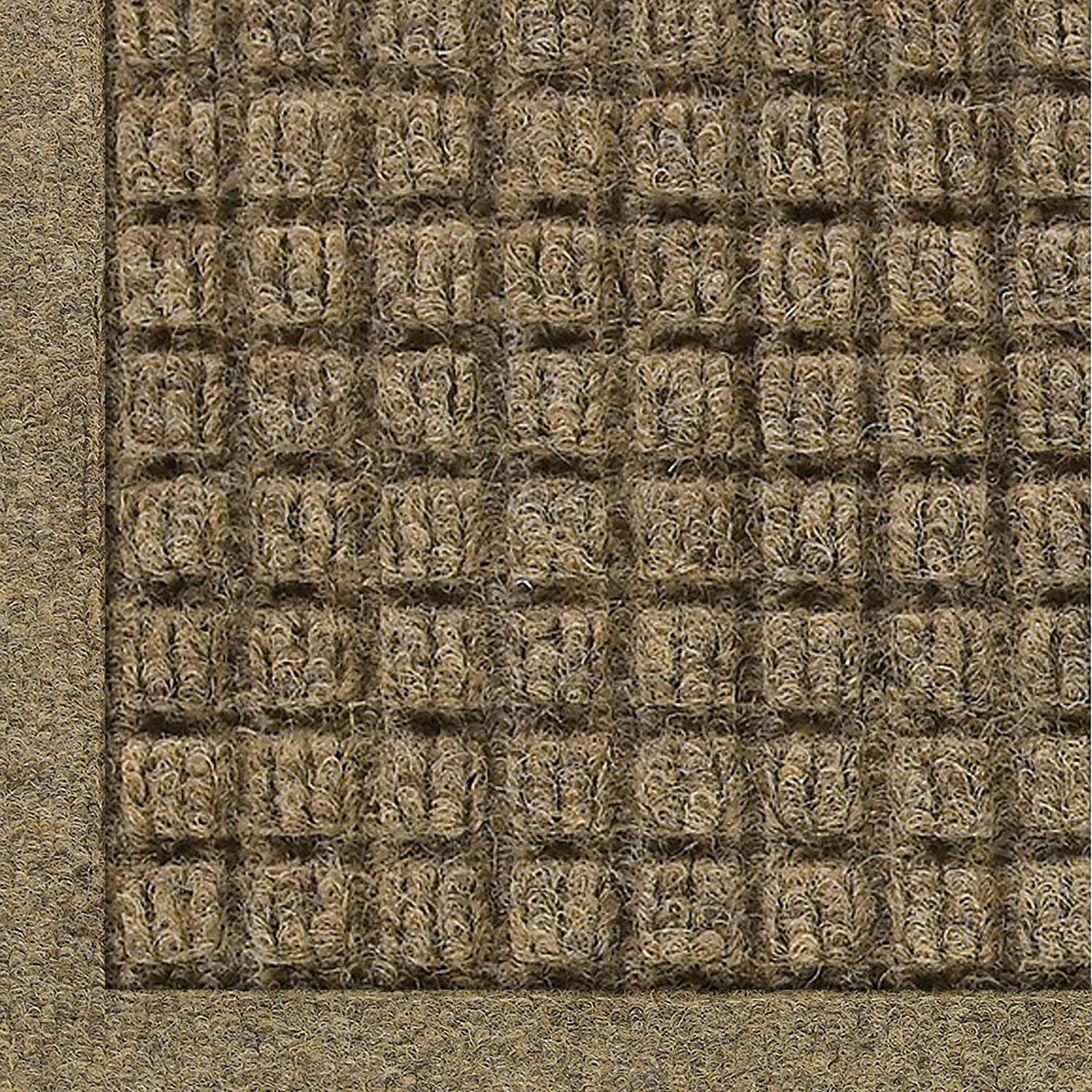 WaterHog Fashion Mat | Commercial-Grade Entrance Mat with Fabric Border – Indoor/Outdoor, Quick Drying, Stain Resistant Door Mat (Camel, 4' x 6')