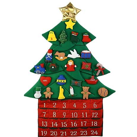 kubla crafts stuffed oh christmas tree fabric advent calendar - Amazon Christmas Tree