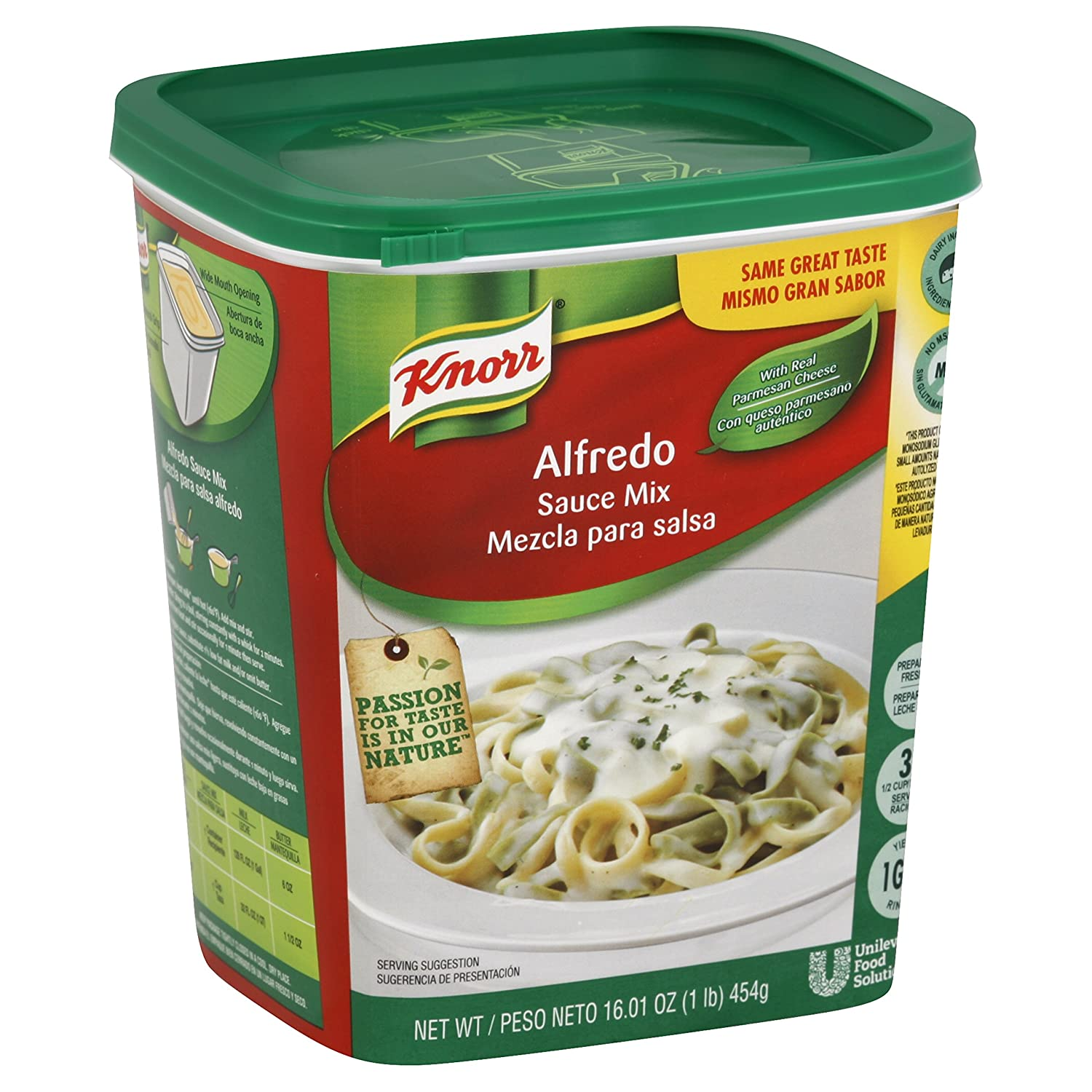 Amazon.com : Knorr Foodservice Powder Mix Alfredo Sauce 4 lb (Pack of 4) : Grocery & Gourmet Food