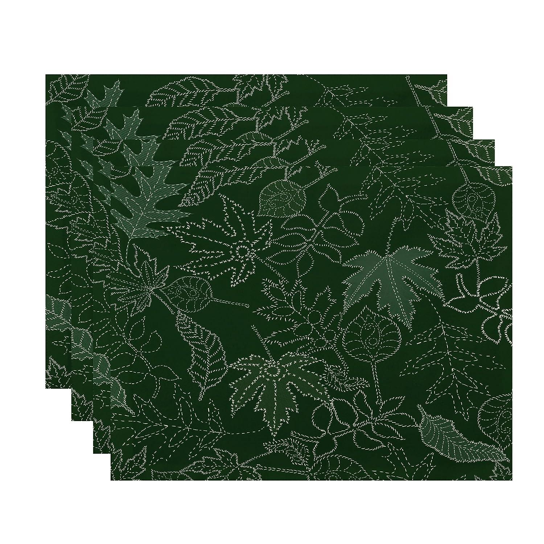 ラウンド  E byデザインFlipping for for Fall点線Leavesプレースマット ゴールド – 4のセット 1 1 ゴールド PT4FN746YE4 B01NGTGSWZ グリーン 1 1|グリーン, SEA FACE:1bd8c92a --- arianechie.dominiotemporario.com