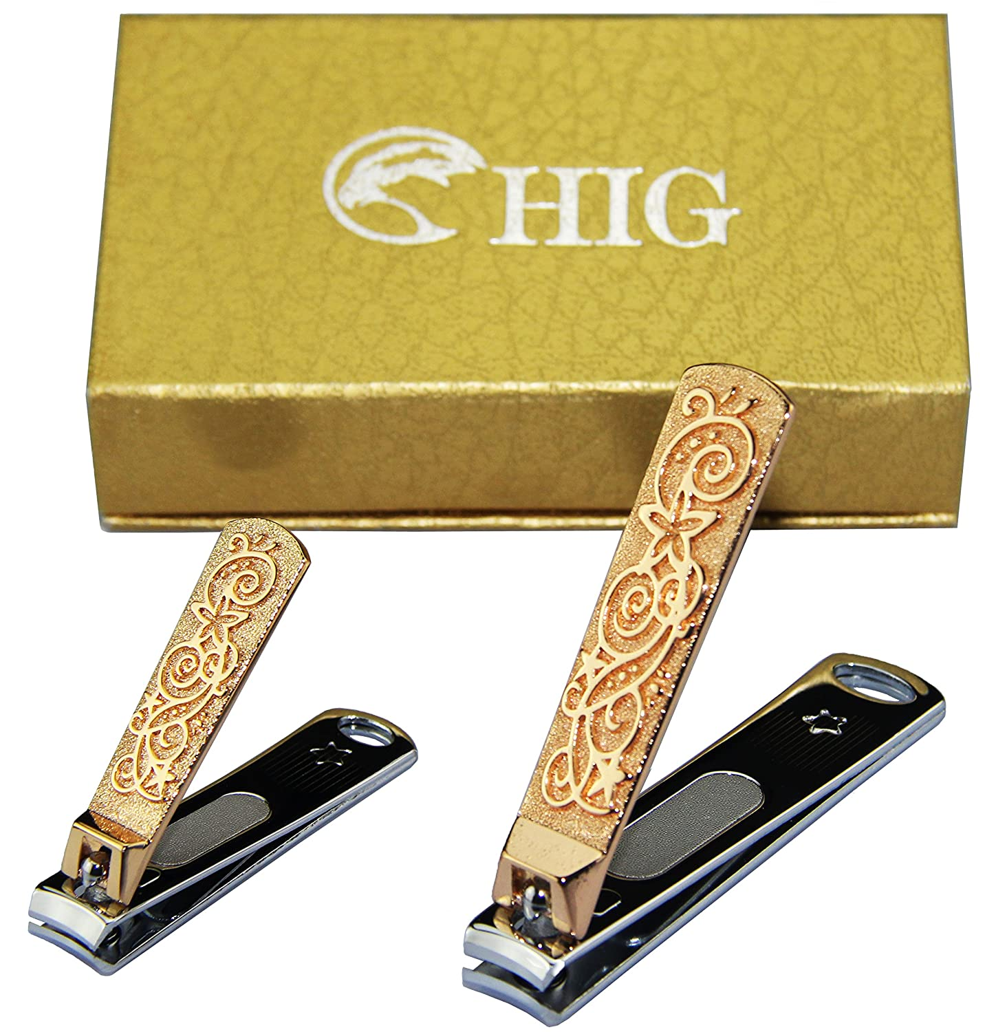Amazon HIG Golden Nail Clipper Built in Nail File Sharpest
