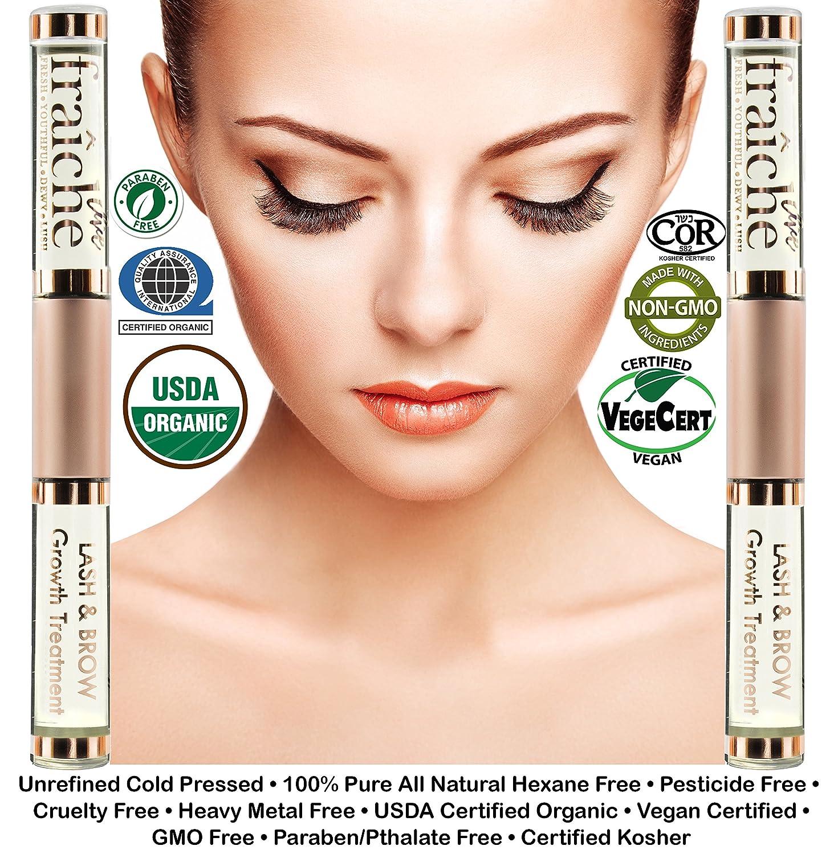 Amazon 2 Pack Bonus Gifts Organic Eyelash Eyebrow Growth