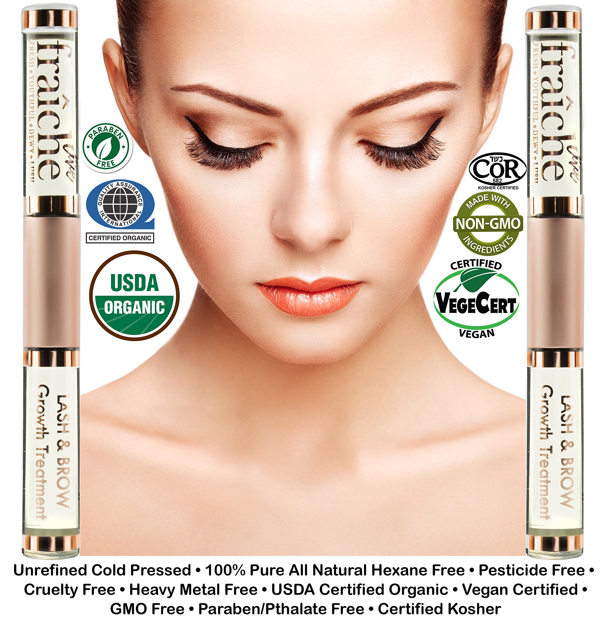 USDA Organic Castor Oil for Eyelashes and Eyebrows - Cold ...