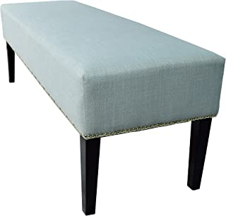 product image for MJL Furniture Designs Roxanne Collection Padded Upholstered Bedroom Accent Bench, HJM100 Series, Sea Mist