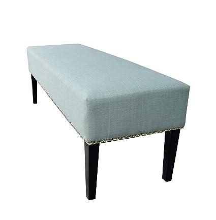 MJL Furniture Designs Roxanne Collection Padded Upholstered Bedroom Accent  Bench, HJM100 Series, Sea Mist
