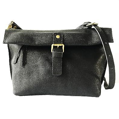 cf2981b4c307 Rhathymia Handmade Vintage Women Small Genuine Leather CrossBody Saddle Bags  Cell Phone Purse (large-