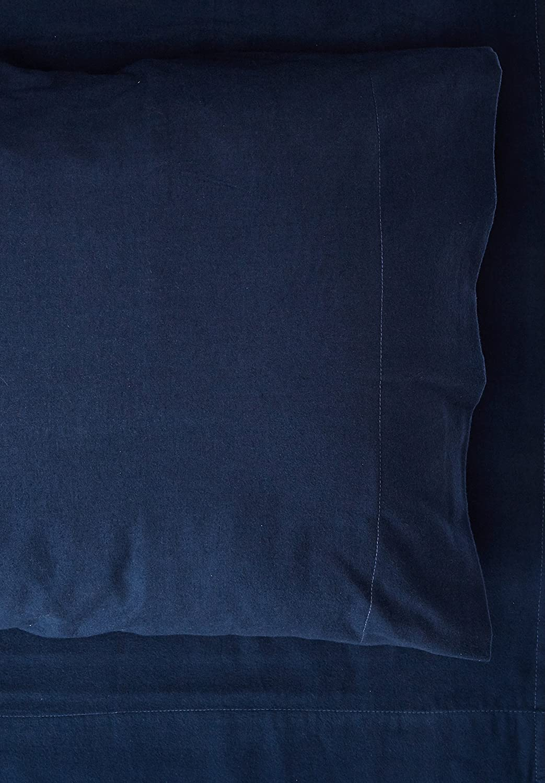 Pointehavenコットンフランネルシートセット 雪の結晶 ツイン ブルー FP175-T-NAVY B01J1AWDNQ ツイン|ネイビー ネイビー ツイン