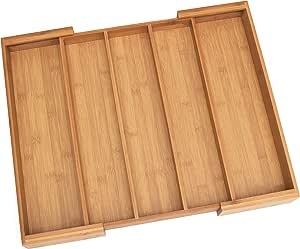 "Lipper International 8892 Bamboo Wood Expandable to 22-1/4"" Utensil Organizer"