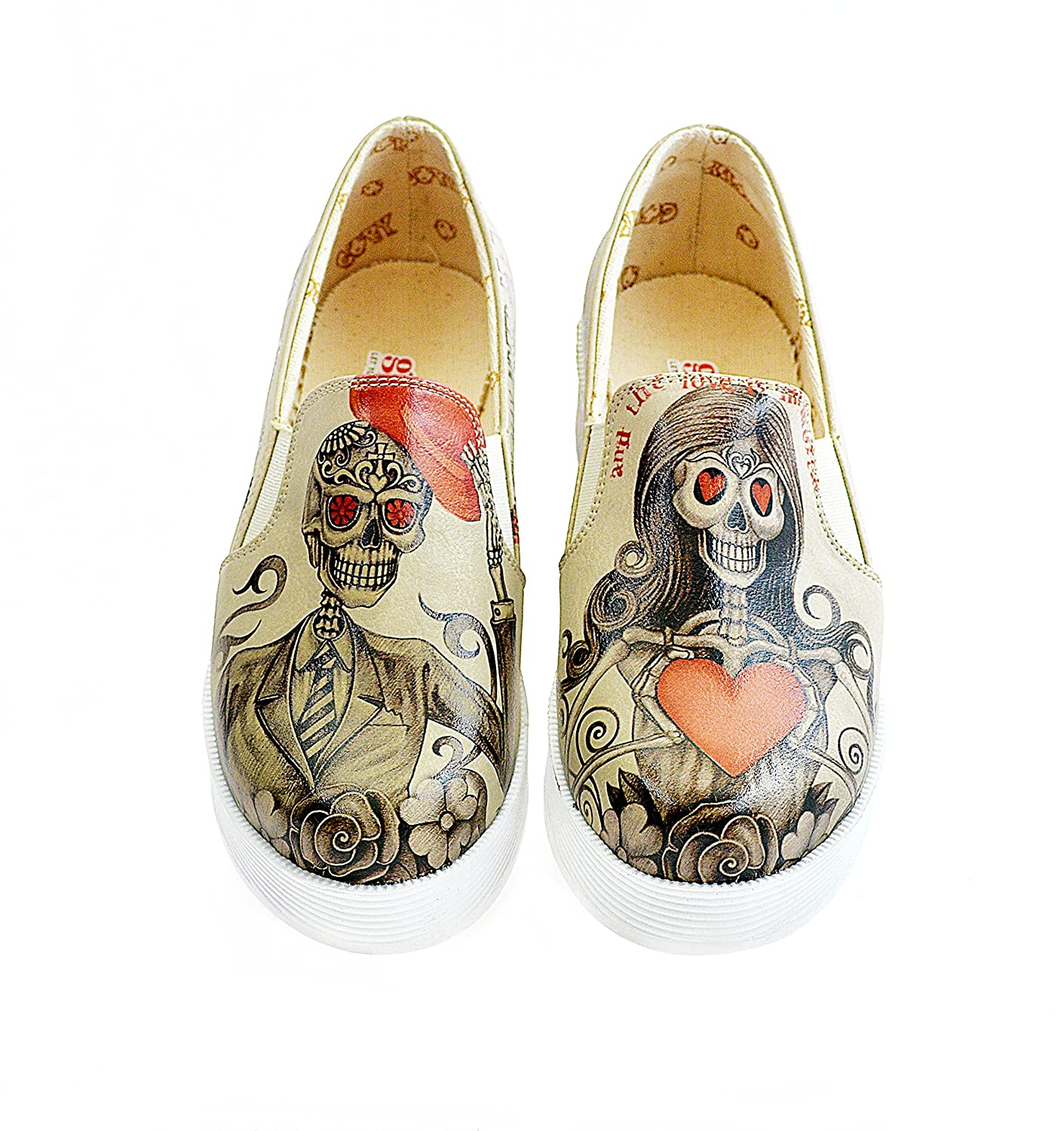 Goby Women's Shoes ''Sugar Skull & Internet Slip-on ...