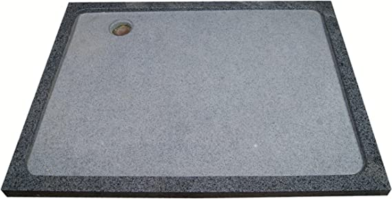 Plato de ducha de piedra natural en granito, 120 x 90 cm, antracita, G654: Amazon.es: Jardín