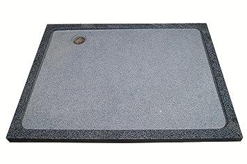 Duschwanne aus Naturstein, Duschtasse, Granit, 120*90cm, anthrazit ... | {Duschwanne flach anthrazit 33}