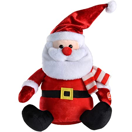 werchristmas musical animated santa christmas decoration 27 cm multi colour - Musical Animated Christmas Decorations
