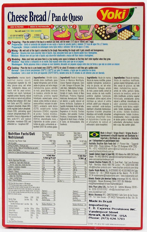 Amazon.com : Cheese Bread Mix - Mistura para Pão de Queijo - Yoki - 8.80 oz (250g) - GLUTEN-FREE - (PACK OF 24) : Grocery & Gourmet Food